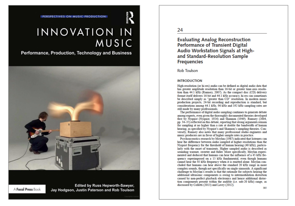 Innovation in music cover image with page 24