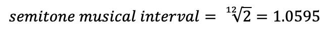 semitone musical intervals